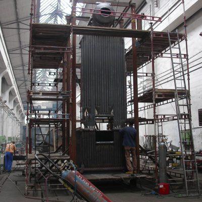 Výroba středotlakého horkovodního fluidního kotle Opathern
